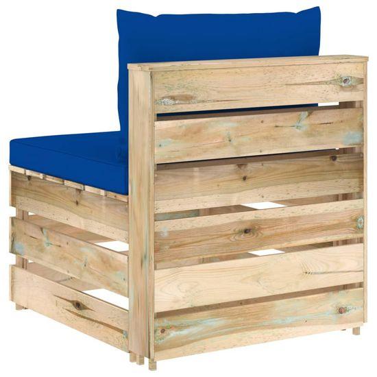 shumee 3-cz. zestaw wypoczynkowy do ogrodu, z poduszkami, drewniany
