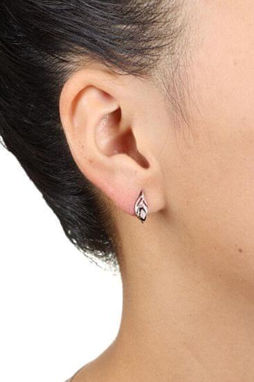 MOISS Nežni srebrni uhani z dimljenim EG000152