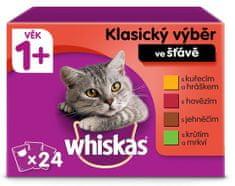Whiskas vrećice klasični izbor s povrćem u soku za odrasle mačke, 24 x 100g