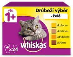 Whiskas kapsičky hydinový výber v želé pre dospelé mačky 24 x 100g