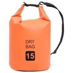 shumee Vodoodporna vrečka Oranžna 15 L PVC