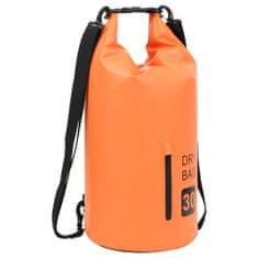 shumee Torba Dry Bag z zadrgo oranžna 30 L PVC