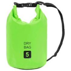 shumee Zelena nepremočljiva vrečka 5 L PVC