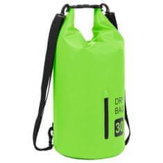 shumee Vodoodporna torba z PVC zadrgo Green 30 L
