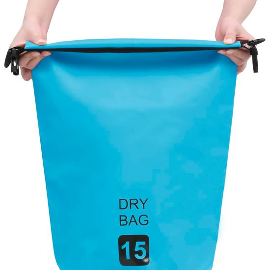 shumee Vodoodporna vrečka modra 15 l PVC