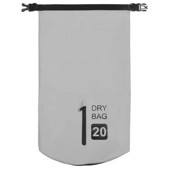 shumee Worek wodoszczelny z suwakiem, szary, 20 L, PVC