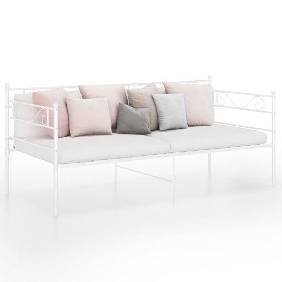 shumee Rama sofy, biała, metalowa, 90x200 cm