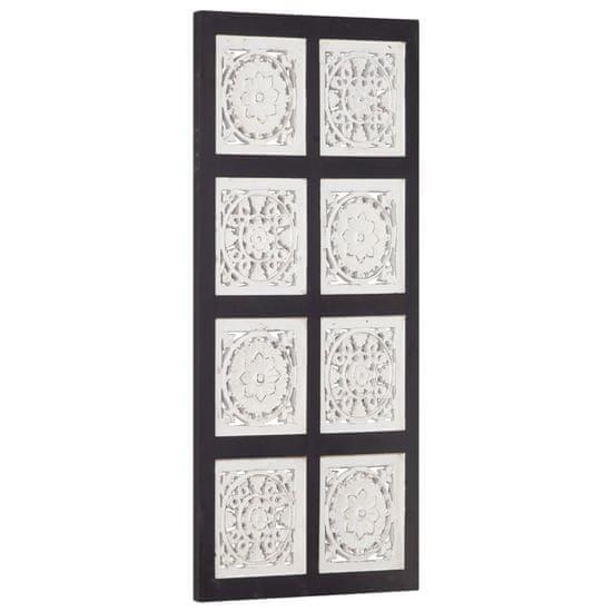 shumee Ręcznie rzeźbiony panel ścienny, MDF, 40x80x1,5cm, czarno-biały