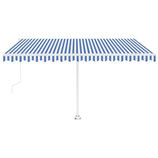 Petromila Samostatne stojaca automatická markíza 400x300 cm modro-biela