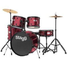 Stagg TIM122B WR kompletní bicí sada, vínová