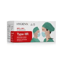 IIR zaščitna maska z elastiko, troslojna, 50/1, zelena