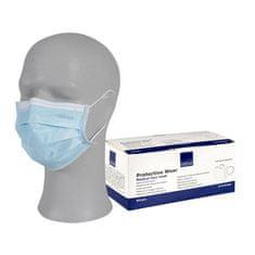 IIR zaščitna maska z elastiko, troslojna, 50/1, modra