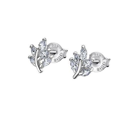 Lotus Silver Gyönyörű ezüst fülbevalók átlátszó cirkóniumkövekkel LP3086-4 / 1