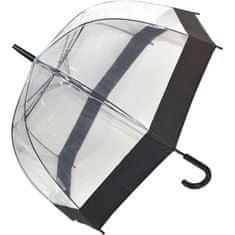 Blooming Brollies Dámsky priehľadný palicový dáždnik Clear Dome s EDSCDB