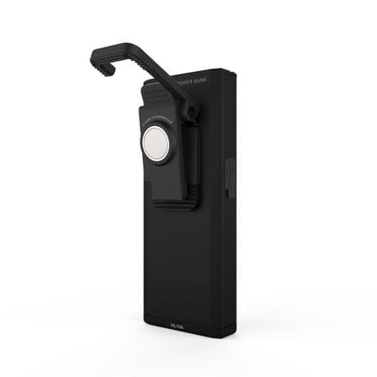 NEBO Slim+ ročna svetilka, LED, polnilna, 700 lm, črna