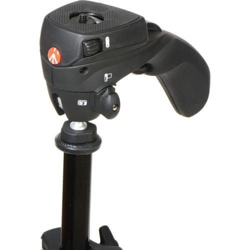 Manfrotto Compact Action aluminijasto stojalo z hybridno glavo, črn (MKCOMPACTACN-BK) + GRATIS nosilec za telefon (MCLAMP)