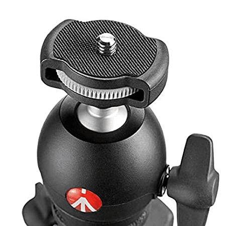 Manfrotto Compact Light aluminijasto stojalo z krogljično glavo, črn (MKCOMPACTLT-BK) + GRATIS nosilec za telefon (MCLAMP)