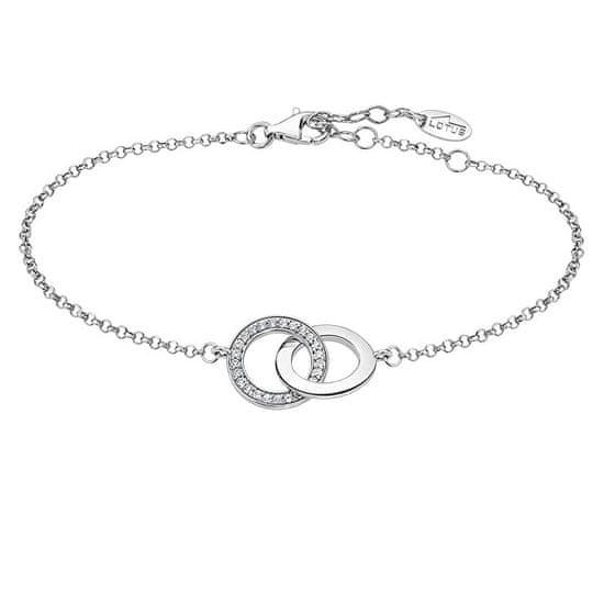 Lotus Silver Elegantna srebrna zapestnica s cirkoni LP1990-2 / 1