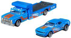 Hot Wheels zestaw Team Transport 30 - Dodge samochód transportowy i wyścigowy