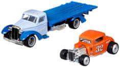 Hot Wheels zestaw Team Transport 32 - Ford samochód transportowy i wyścigowy