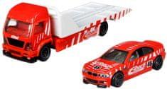 Hot Wheels zestaw Team Transport 29 - BMW samochód transportowy i wyścigowy