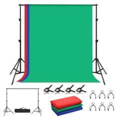 Puluz Studio Background foto ozadje z držalom 2x2m