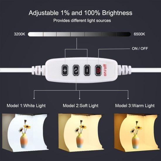 Puluz Studio foto box z LED osvetlitvijo 30 cm