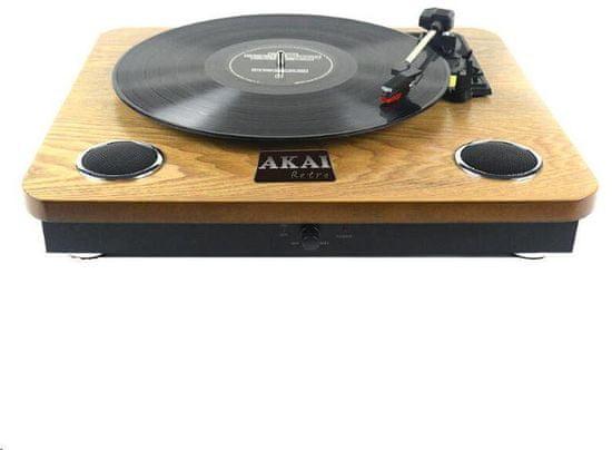 Akai ATT-09 Lemezlejátszó, 2.4 W hangsugárzó, Retro