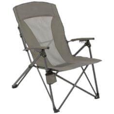 Highlander Balvenie zložljiv stol za kampiranje, siv