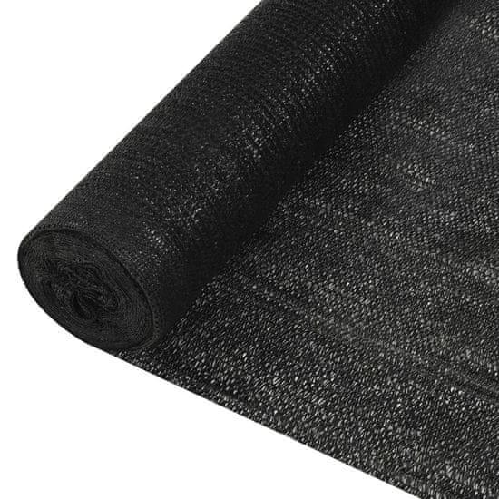 shumee fekete HDPE belátásgátló háló 1,5 x 10 m 195 g/m²