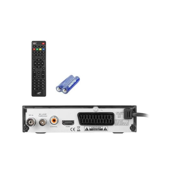 LTC TV dekoder HD DVB-T-2 H.265 z daljincem