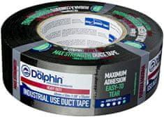 Blue Dolphin Lepilni trak iz tekstila ČRNI