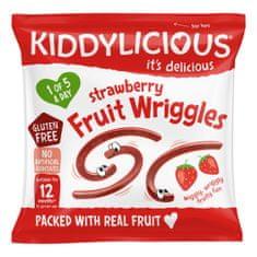 Kiddylicious dážďovky jahodové 9x12g