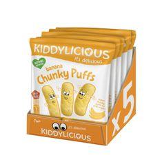 Kiddylicious Ovocné křupky - Banán 5x12 g