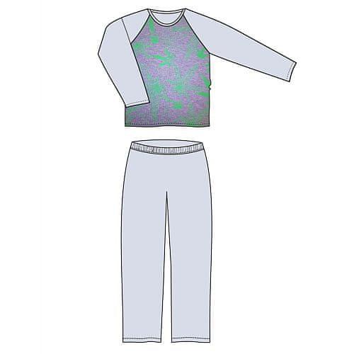 Fuski - Boma Lopping pyžamo dlouhý rukáv Barva: TRÁVA/CELOTISK/MELÉ, Velikost: M