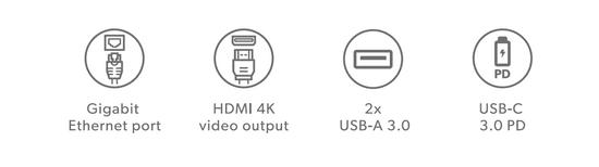 EPICO Type-C Hub Multimedia 3 8596049151961, sivý