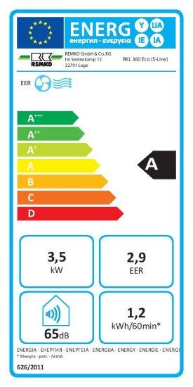 Remko Mobilní klimatizace REMKO RKL360 Eco S-line
