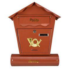 Portoss poštni nabiralnik, 440x370x100, rjav