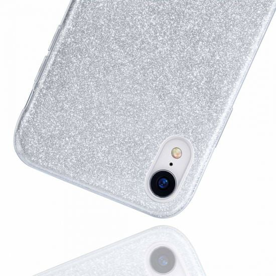 Bling maskica za Xiaomi Mi 9T/Poco M3, silikonska, sa šljokicama, srebrna