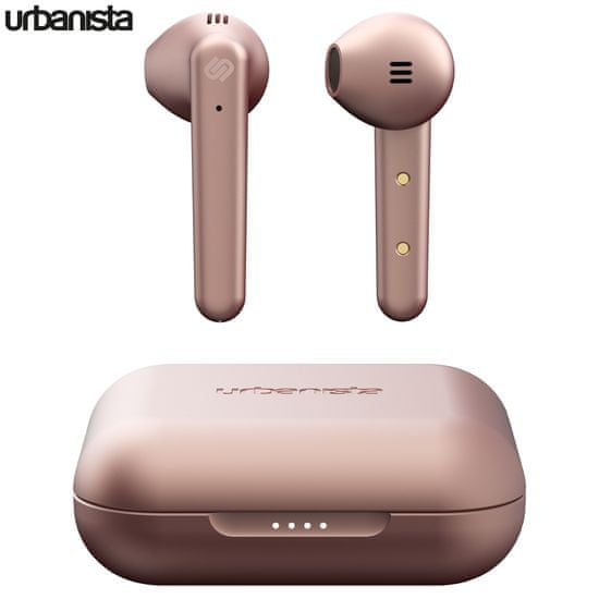 Urbanista Stockholm Plus bežične slušalice s postajom za punjenje, roze