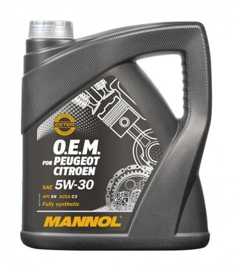 Mannol motorno ulje O.E.M za Peugeot Citroen 5W-30 (DPF), 4 l