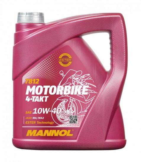 Mannol motorno ulje 4-Takt Motorbike 10W-40, 4 l
