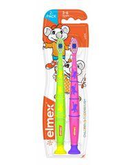 Elmex Szczoteczka do zębów dla dzieci w wieku 3-6 lat 2 szt.