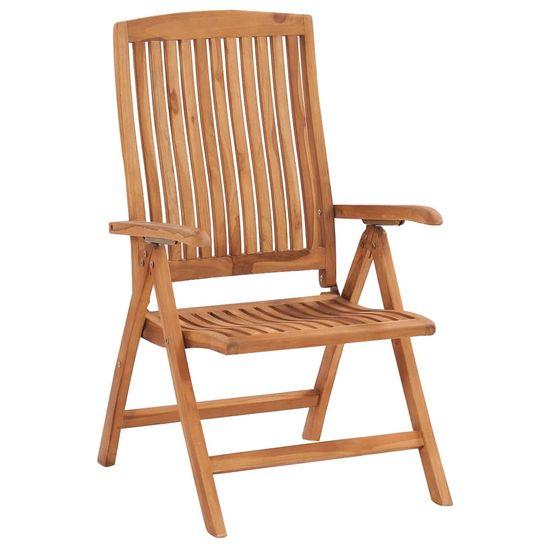 shumee Rozkładane krzesła ogrodowe z poduszkami, 8 szt., drewno tekowe
