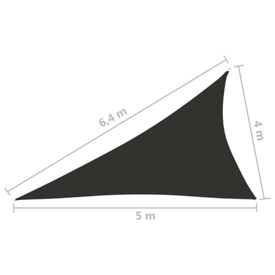 shumee Żagiel ogrodowy, tkanina Oxford, trójkątny, 4x5x6,4 m, antracyt