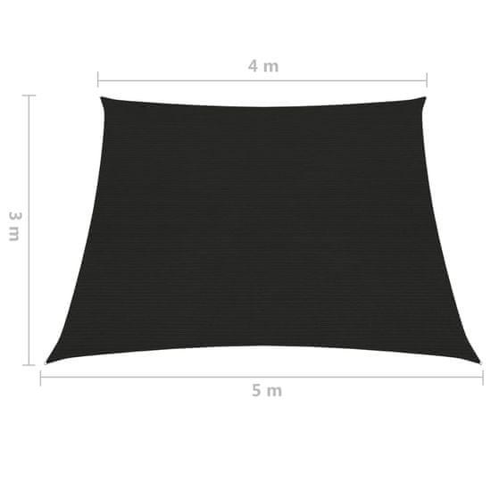 shumee Żagiel przeciwsłoneczny, 160 g/m², czarny, 4/5x3 m, HDPE