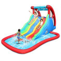 Happy Hop Skákací hrad Obří vodní trojitá závodní skluzavka, vodní hry bez hranic