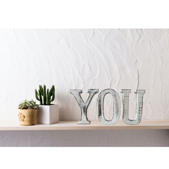 AWGifts Dřevěná dekorační písmena I LOVE YOU