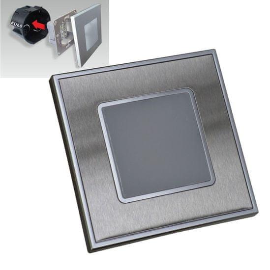 LUXERA LED Lépcsőházi lámpatest STEP LIGHT 48303, 1 W, szatén acél