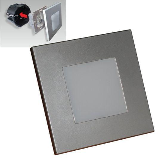 LUXERA 48302 Step Light LED svijetlo na stubištu, 1 W, srebrno